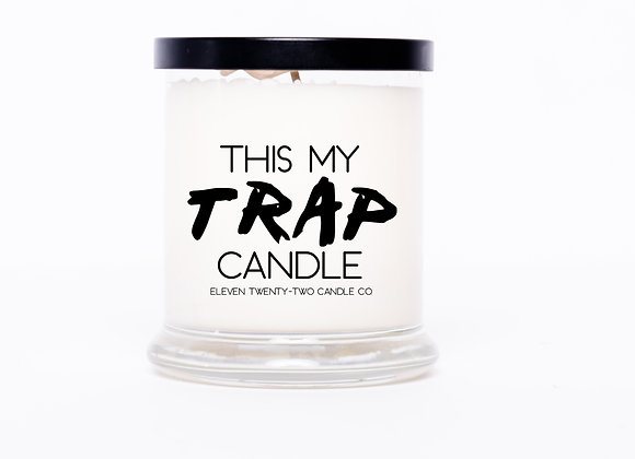 FROSTED THIS MY TRAP CANDLE