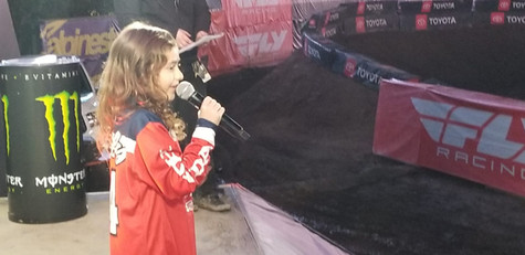 singing the National Anthem at the #supercross games