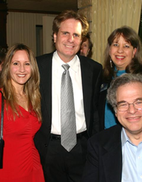 With Dan Foliart and Yitzhak Perlman