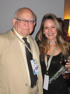 With Ed Asner