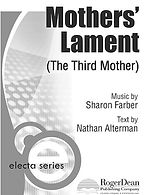 MOTHERS' LAMENT SCORE - SHARON FARBER