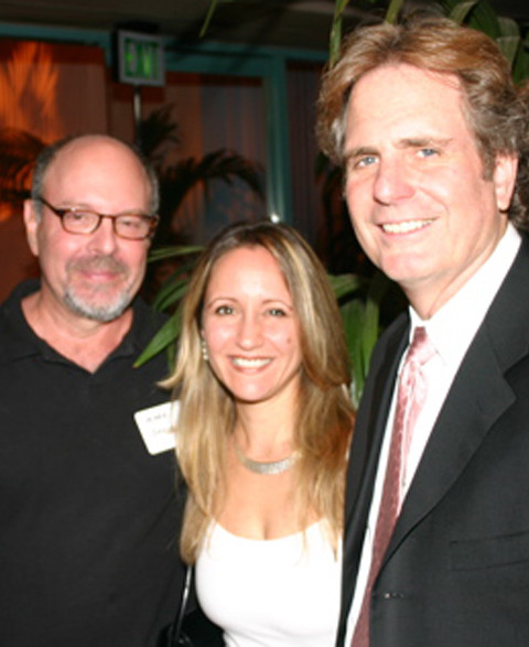 With composers Dan Foliart and Mark Snow
