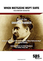 WHEN NIETZSCHE WEPT SUITE SCORE - SHARON FARBER