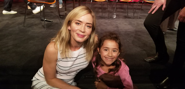 With Emily Blunt