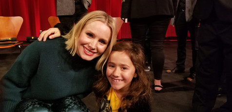 With Kristen Bell