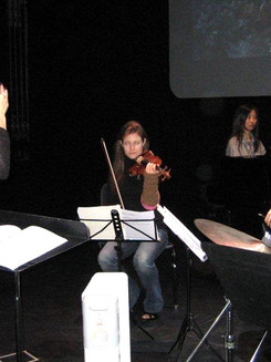 Sharon conducting her commission