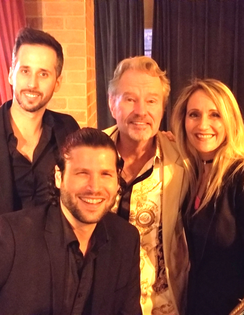 With famed actor John Savage