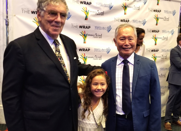 With George Takei and Elliot Gould