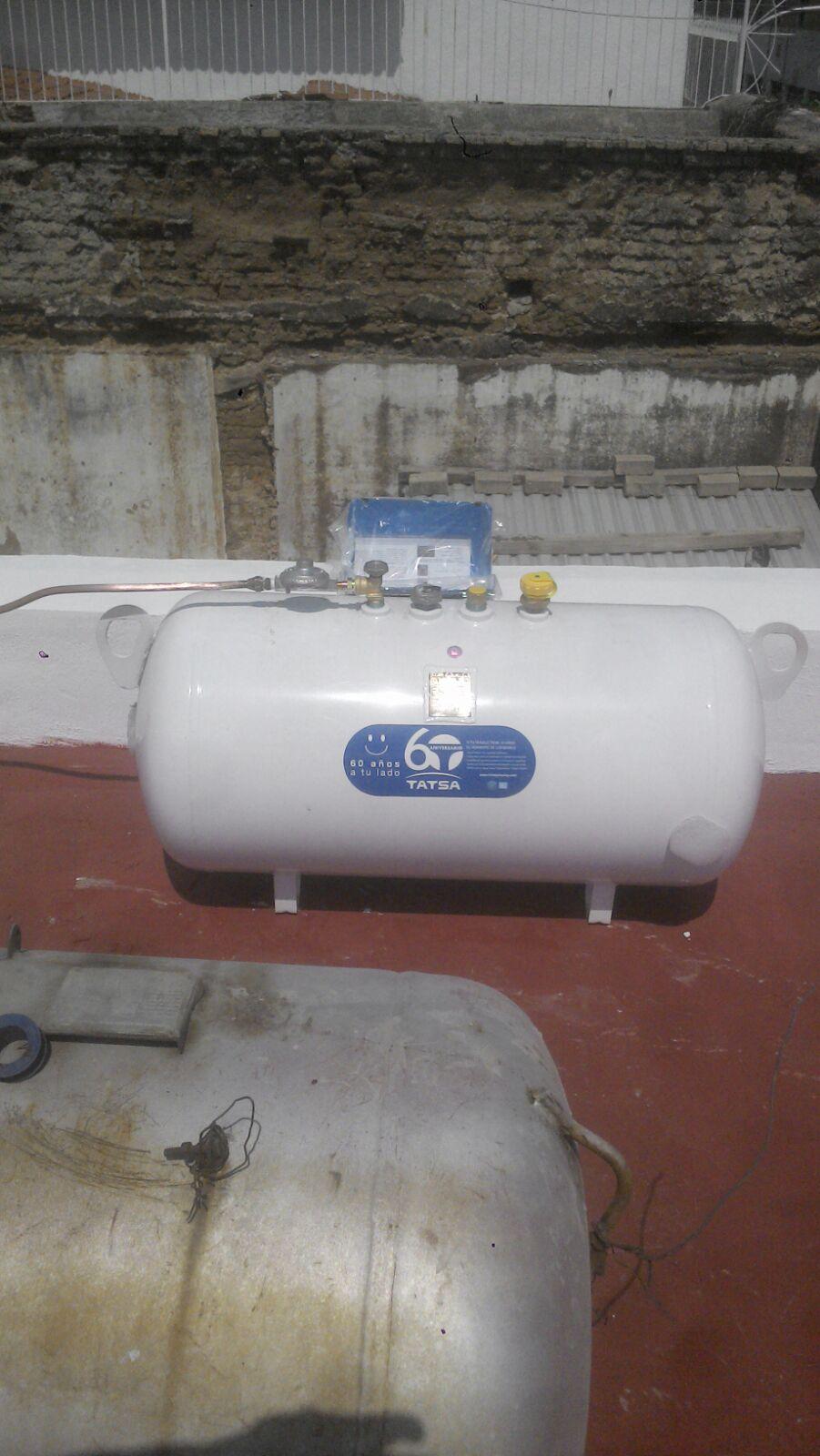instalación tanque de gas