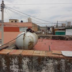 el antes de tanque de gas