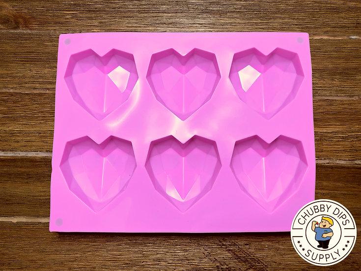 Small Geometric Heart Mold