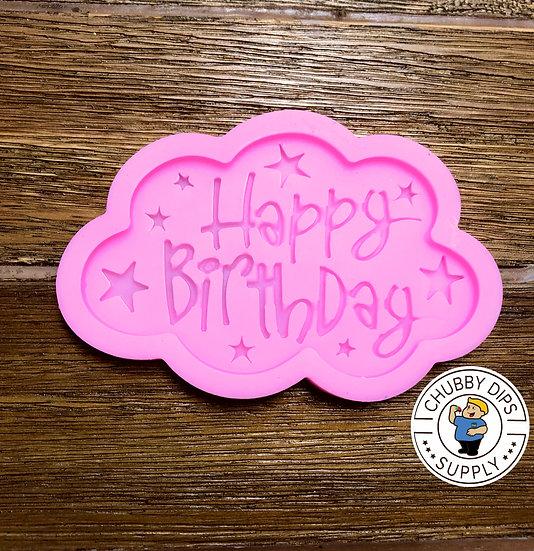 Happy Birthday Cloud Mold