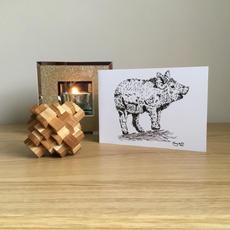 Mangalitsa Pig Greetings Card