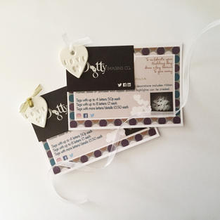 Clay Tag Party Favours