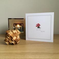 Red Bonsai Greetings Card