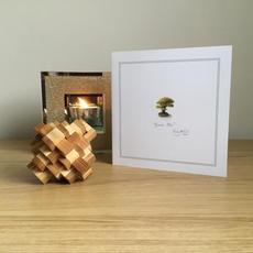Green Bonsai Greetings Card