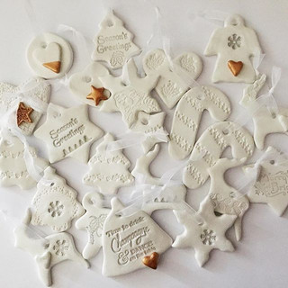 These clay Christmas 🎄 tags are perfect