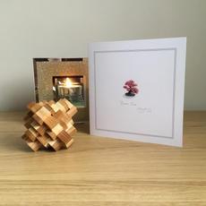Pink Bonsai Greetings Card