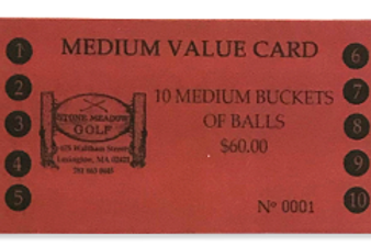 Medium Bucket Value Card