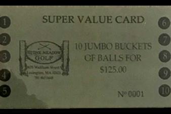 Jumbo Value Card