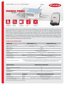 Fronius Primo Inverter Data Sheet Icon.P