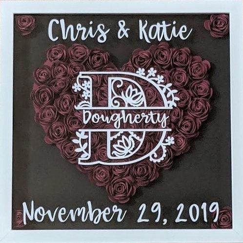 Large Blooming Box DIY Kit- Wedding Heart