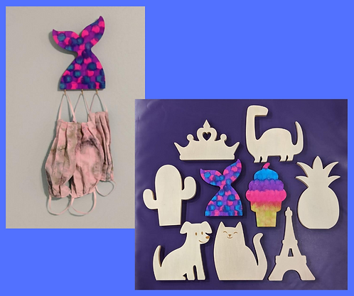 DIY Mask Holder- Fun Shapes