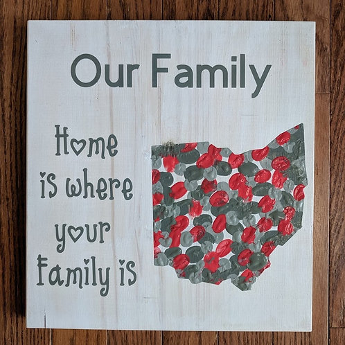 DIY Kit- Family Fingerprint/Handprint Sign