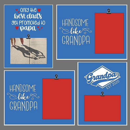 DIY Kit- Grandpa Photo Signs
