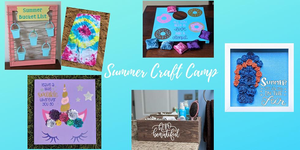 Kids Craft Camp Week 1- FULL WEEK 7/6-7/10