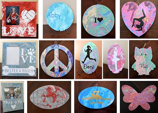 Paint Pour Collage- shapes and frames.jp