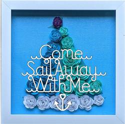 Blooming Box- Sailboat- come sail away w