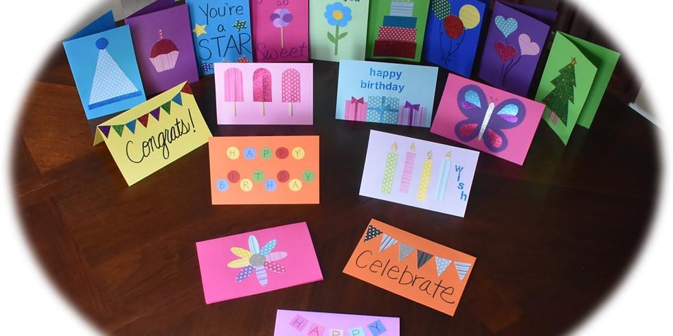 Kids Card Making at Sassy Stitches 11/9