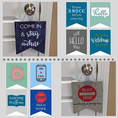 DIY Kit- Double-Sided Door Sign