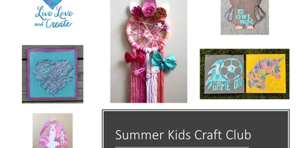 Summer Kids Craft Club- Full Week