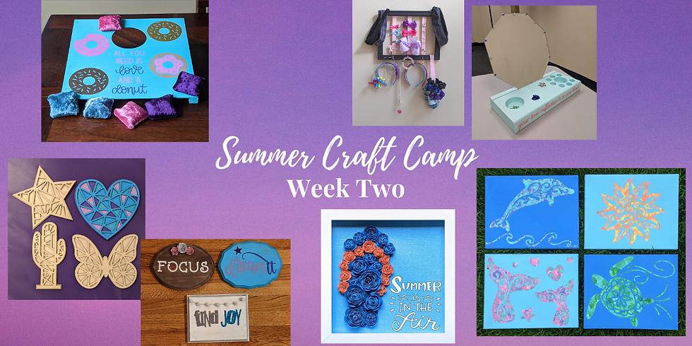 Kids Craft Camp Week 2- FULL WEEK 7/13-7/17
