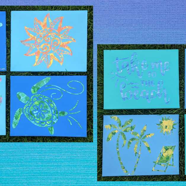 Kids Craft Camp Wed 7/29- Hot Mess Canvases