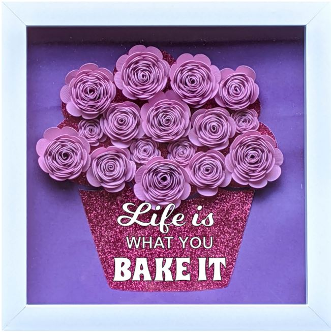 Blooming Box- Cupcake- LIfe is what you