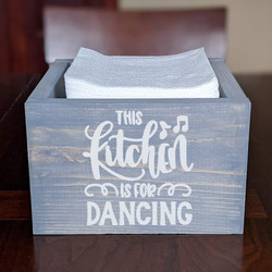 Sq Box- Kitchen is for dancing (napkins)