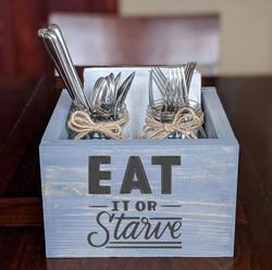 Sq Box- eat it or starve (jars & napkins