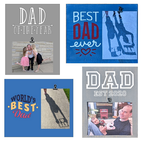 DIY Kit- Dad Photo Signs