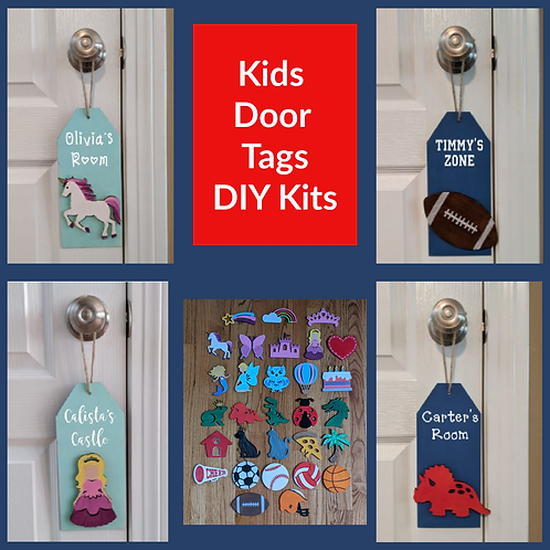 DIY Kit- Kids Door Tag