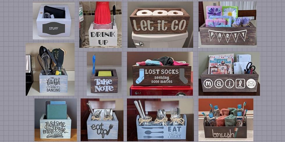 Kids Craft Camp WK1 Fri 7/10- Organizer Boxes