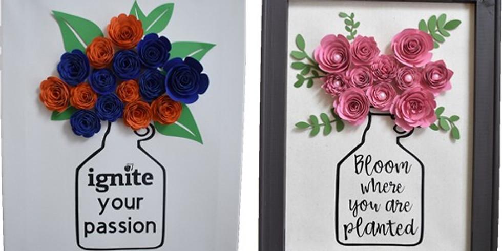 Crafts & Drafts 3/21 at Ignite- Paper Flower Growler