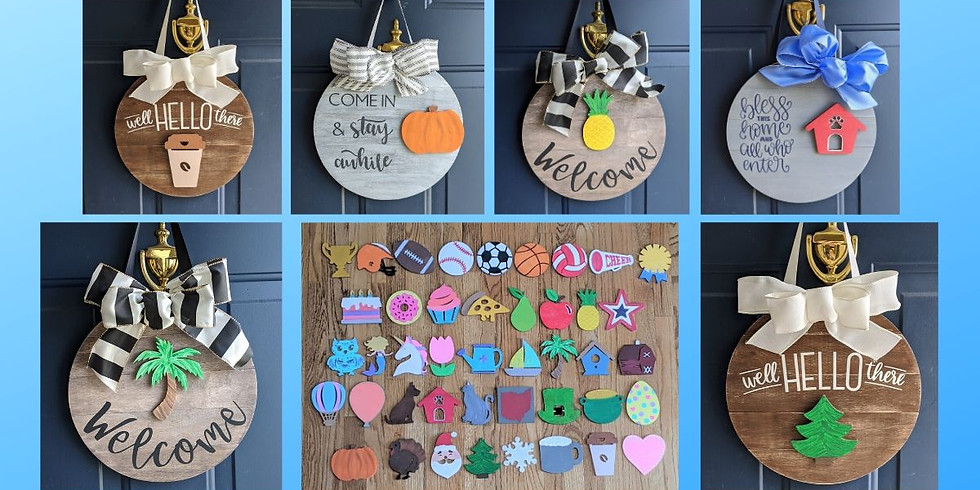 Interchangeable Round Signs @ Sassy Stitches Boutique 4/3