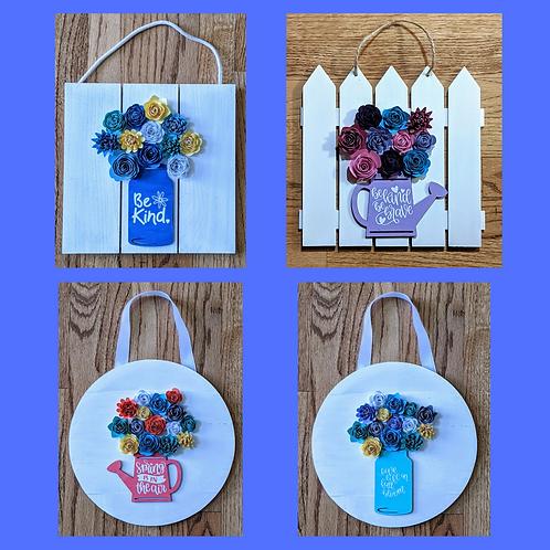 DIY Kit- Blooming Sign