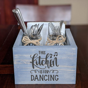 Sq Box- Kitchen is for dancing (jars and