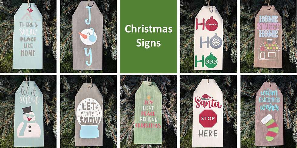Christmas Signs 12/6 at Sassy Stitches Boutique