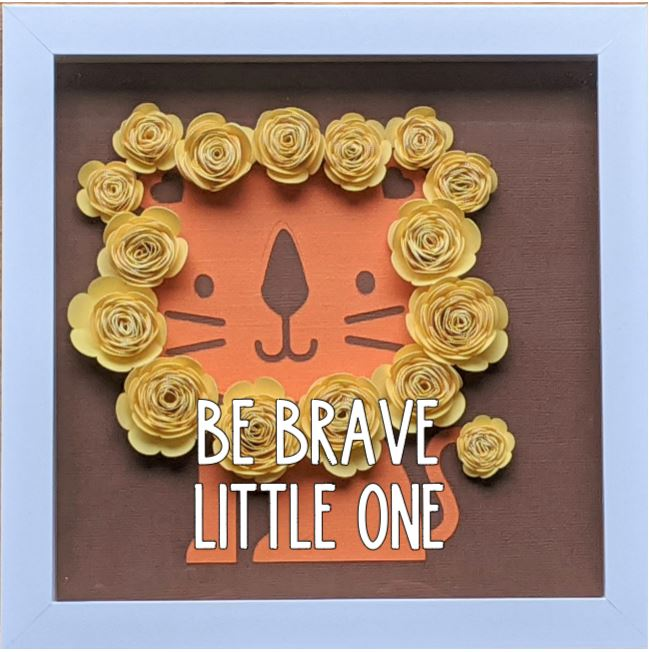 Blooming Box- Lion- Be Brave Little One.