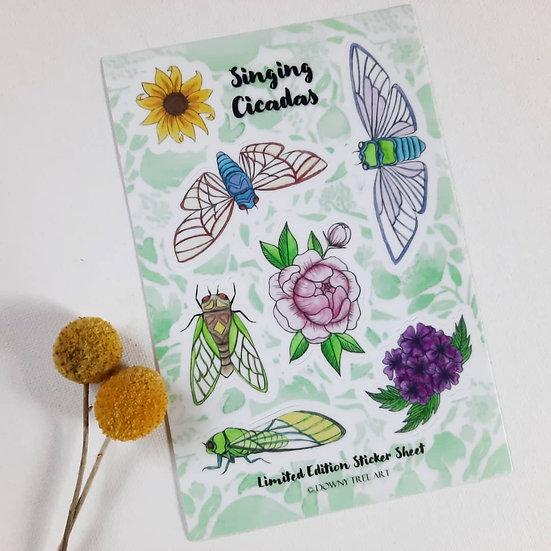 Cicada Summer Limited Edition Sticker Sheet